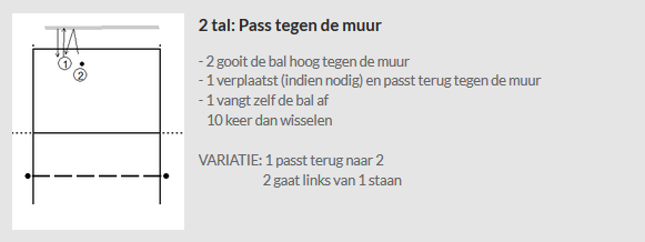 2 tal - pass tegen de muur