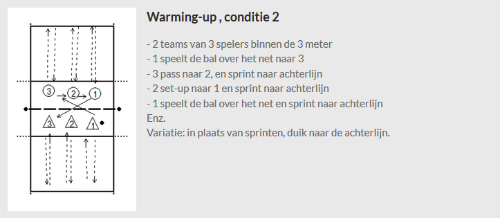 Warming-up , conditie 2